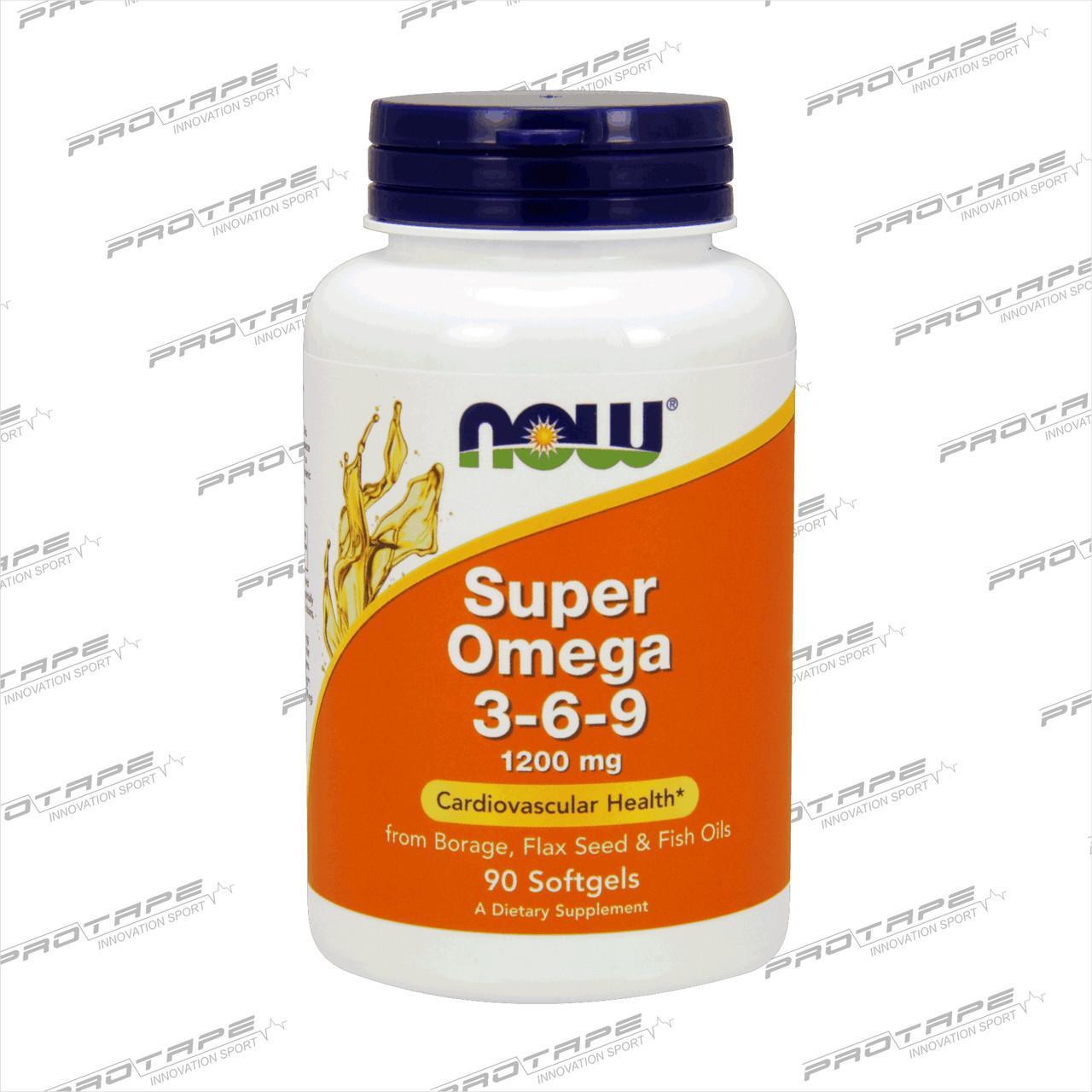 Omega-3-6-9 NOW Омега 3-6-9 90 капсул