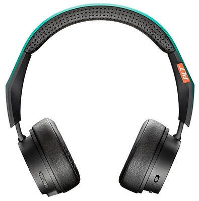 Наушники-гарнитура беспроводные Plantronics BACKBEAT FIT 500, черный+зеленый
