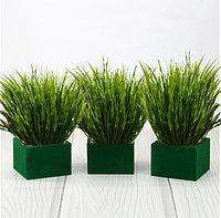 Искусственная волнистая трава для декора с регулирующей длиной 30-43 см (1 пучок)