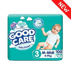 Детские Подгузники GOODCARE №3 (4-9 кг), 100 шт