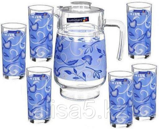 BLUE FLORA набор для напитков 7 предметов, шт