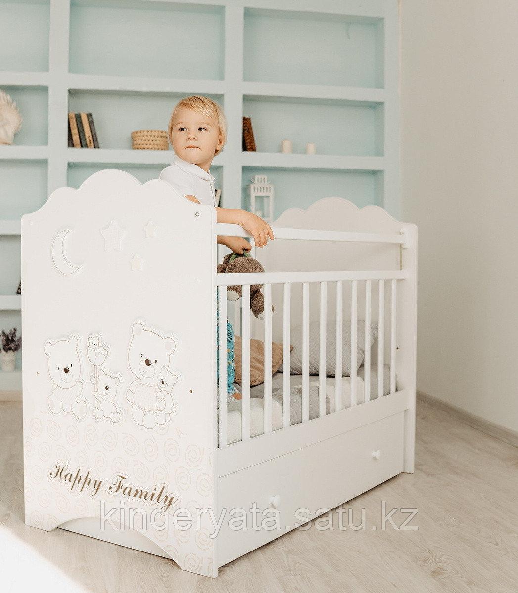 Детская кроватка ВДК Unica Familia с маятником, с ящиком
