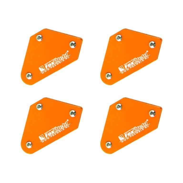 Набор угольников магнитных FIX KIT-4 4шт/комплект, 45/90/135град, усилие 4 х 4кг