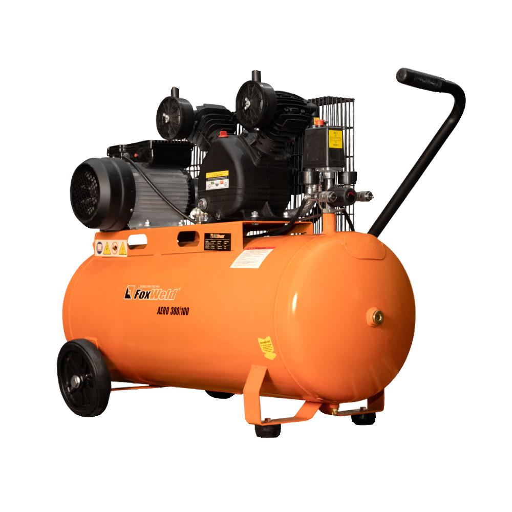 Масляный ременной компрессор AERO 380/100 (пр-во FoxWeld/КНР)
