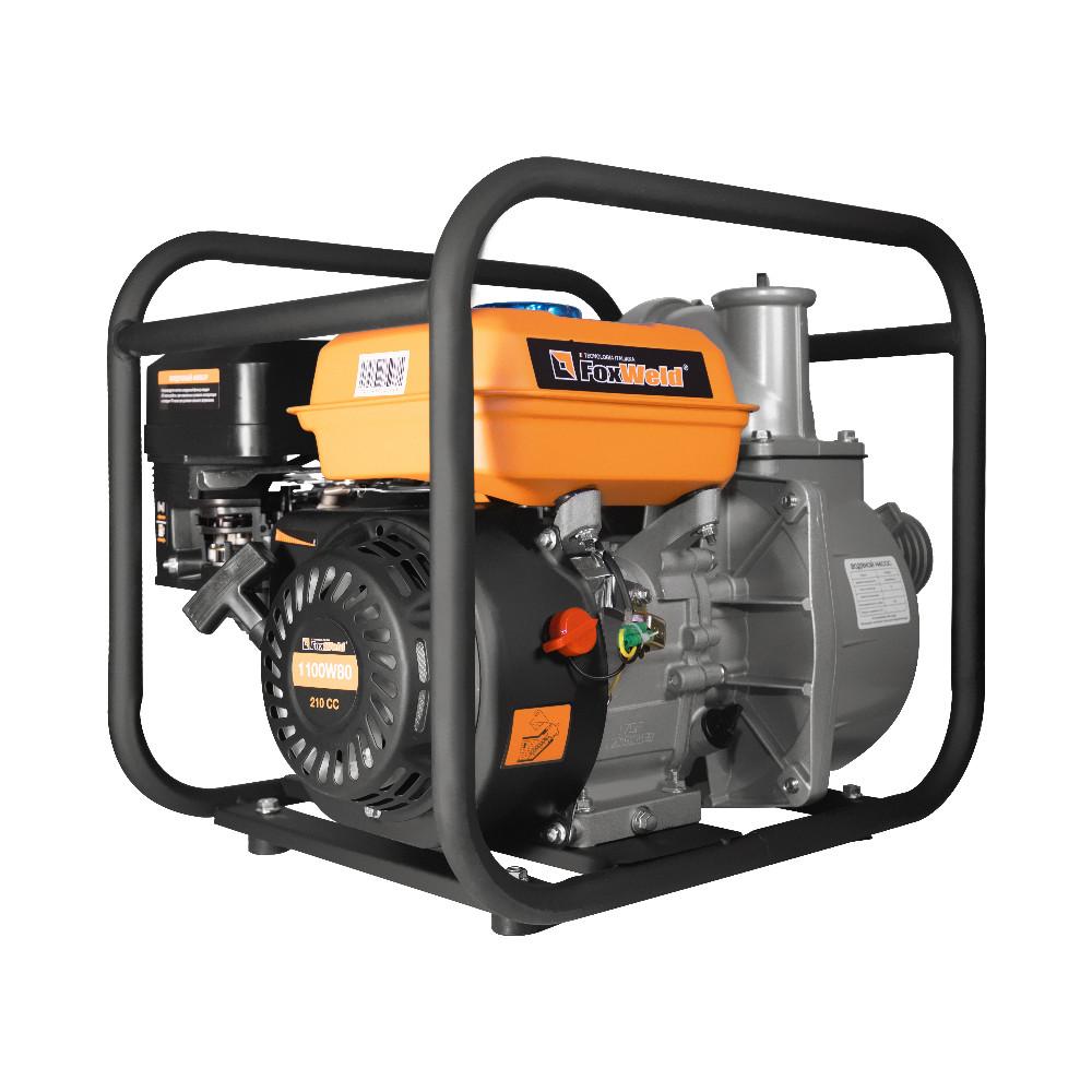 Мотопомпа бензиновая FoxWeld 1100W80