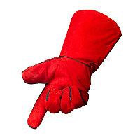 Краги спилковые красные (пр-во Foxweld), фото 1