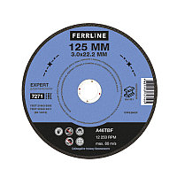 Круг отрезной по металлу FerrLine Expert 125 х 3 х 22,2 мм A46TBF
