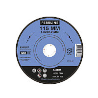 Круг отрезной по металлу FerrLine Expert 115 х 1,0 х 22,2 мм A46TBF