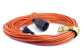Удлинитель вилка-розетка LUX УС1-О-40 (У-101) ПВС 40м 2х0.75мм, 10А (7)