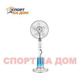 Вентилятор с водяным увлажнителем и таймером+пульт на 75 Вт (цвет серый)