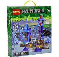 Конструктор Майнкрафт: JISI BRICKS (Decool) 826 Ледяные шипы (454 дет.) аналог Minecraft