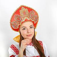 Кокошник Павло-посадский узор с цветами