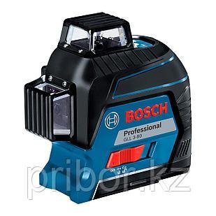 Лазерный профессиональный нивелир Bosch GLL 3-80 + кейс