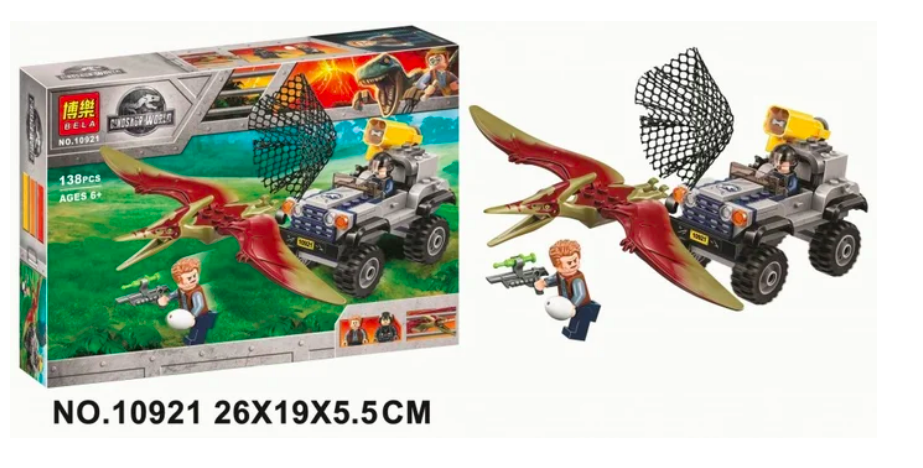 "Конструктор BELA 10921 Dinosaur World "" Погоня за Птеранодоном"" - фото 2"