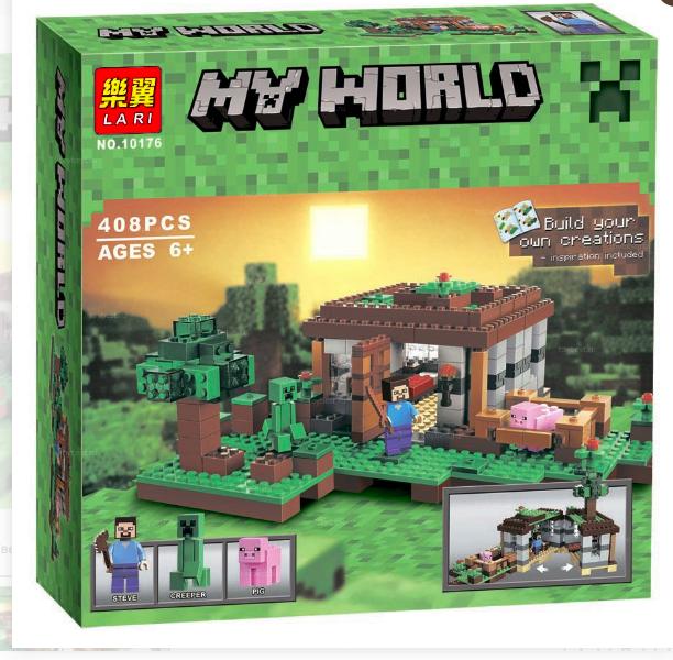 Конструктор Lari Майнкрафт (Minecraft) Первая ночь 10176 408 деталей - фото 1