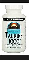 Таурин 1000 мг 120 капсул. Taurine