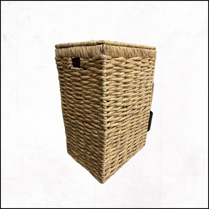 Корзина плетеная прямоугольная Кукуруза 44х35х63см