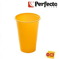 Набор стаканов одноразовых 200 мл, цветных, 6 шт, PERFECTO LINEA Россия