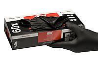 Одноразовые нитриловые перчатки Extra стойкие к растворителям Colad черный цвет размер M (536400) (400 штук)