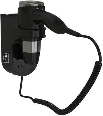 Фен для волос настенный Puff-1600BIB черный