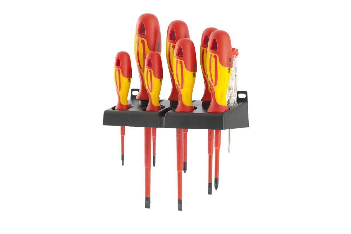 Набор отверток GROSS 12950 диэлектрических до 1000в тестер crmo двухкомпонентные рукоятки (8шт.)