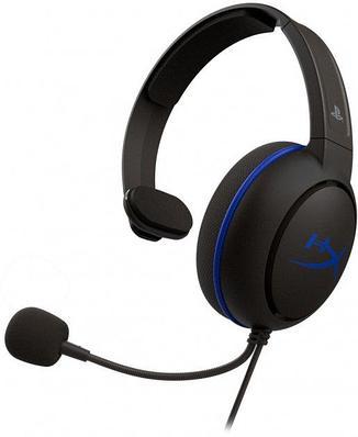 Наушники-гарнитура игровые HyperX HX-HSCCHS-BK/EM Cloud Chat for PS4, черный+синий