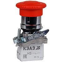 Кнопка КМЕ5501мФС-красный-0но+1нз-гриб-IP54-КЭАЗ