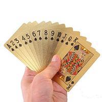 Колода игральных карт в пластиковом боксе «Золотой слиток» (Евро)