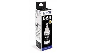 Чернила Epson C13T66414A L100/110/120/1300/132/200/210/222/300/312/350/355/362/366/456/550/555/566 черный