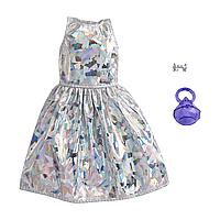 """Barbie: Н-р одежды для куклы Barbie """"Модный выход"""", серебристое платье"""