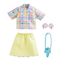 "Barbie: Н-р одежды для куклы Barbie ""Модный выход"", желтый костюм"