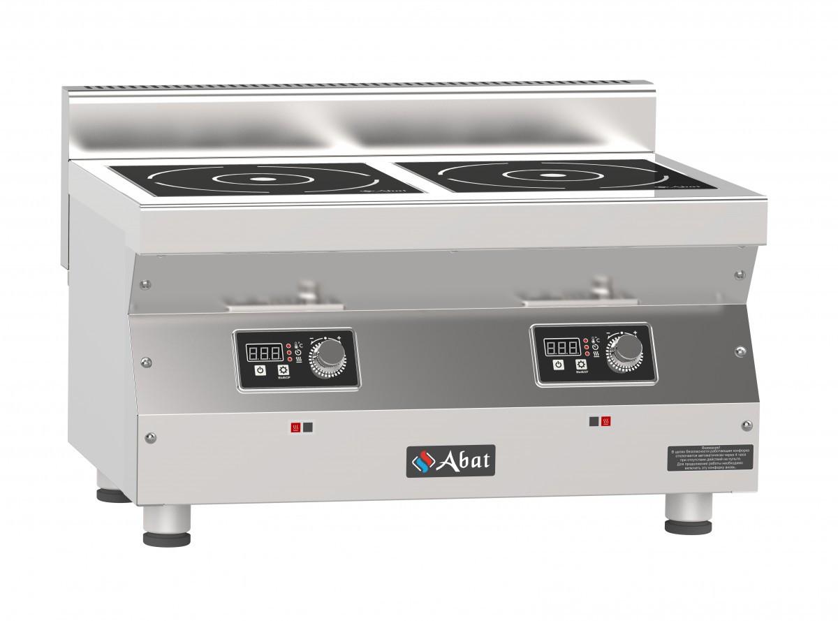 Плита индукционная 2-х конфорочная Abat КИП-25Н-5,0