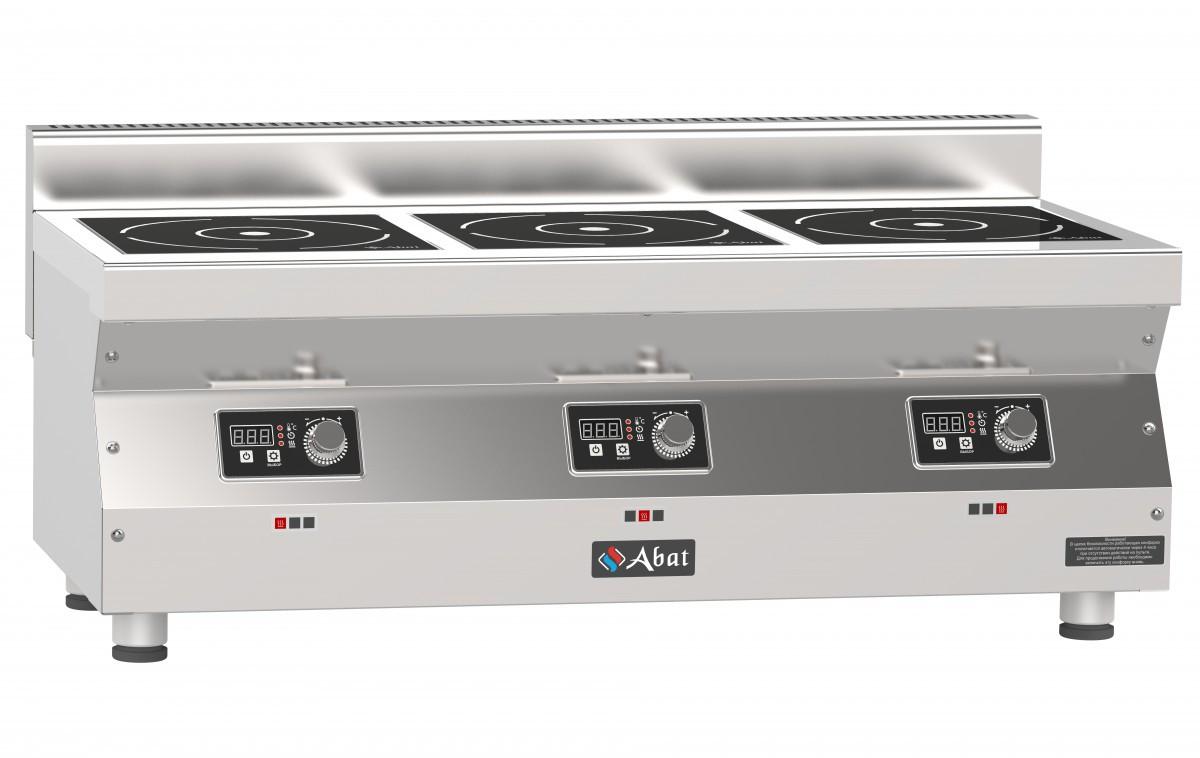 Плита индукционная 3-х конфорочная Abat КИП-35Н-5,0