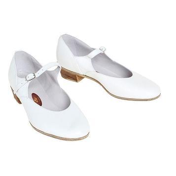 Туфли народные женские, длина по стельке 26 см, цвет белый