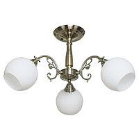 """Люстра """"Аурелия"""" 3 лампы 60W E27 античная бронза"""