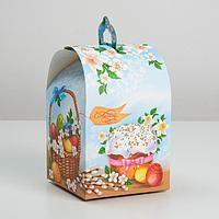 Коробка складная «Вкусный Кулич», 16,5 × 14,5 × 21 см