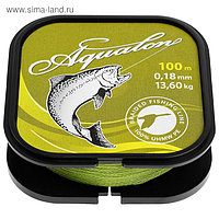 Леска плетёная Aqua Aqualon Olive, d=0,18 мм, 100 м, нагрузка 13,6 кг