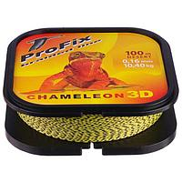 Леска плетёная Aqua ProFix Chameleon 3D Desert, d=0,16 мм, 100 м, нагрузка 10,4 кг