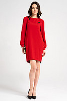 Женское осеннее красное нарядное платье Панда 18980z красный 44р.