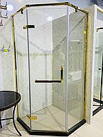 Душевая перегородка в золоте 1000*1000*2005 мм