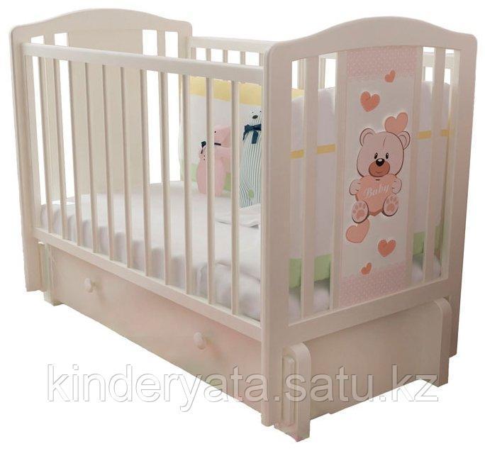 """Детская кроватка  """"Тедди-3"""" Можгинский лесокомбинат слоновая кость"""