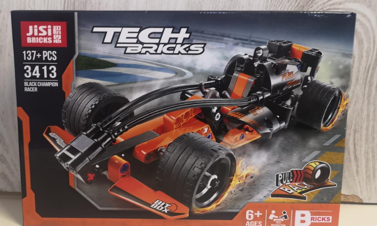 Аналог Лего Техник (LEGO Technic), конструктор машинки, инерция - фото 2