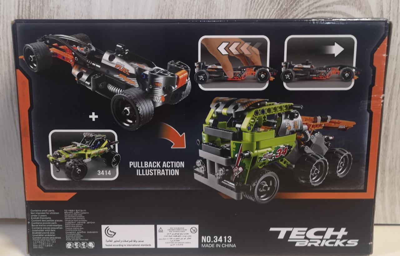 Аналог Лего Техник (LEGO Technic), конструктор машинки, инерция - фото 4