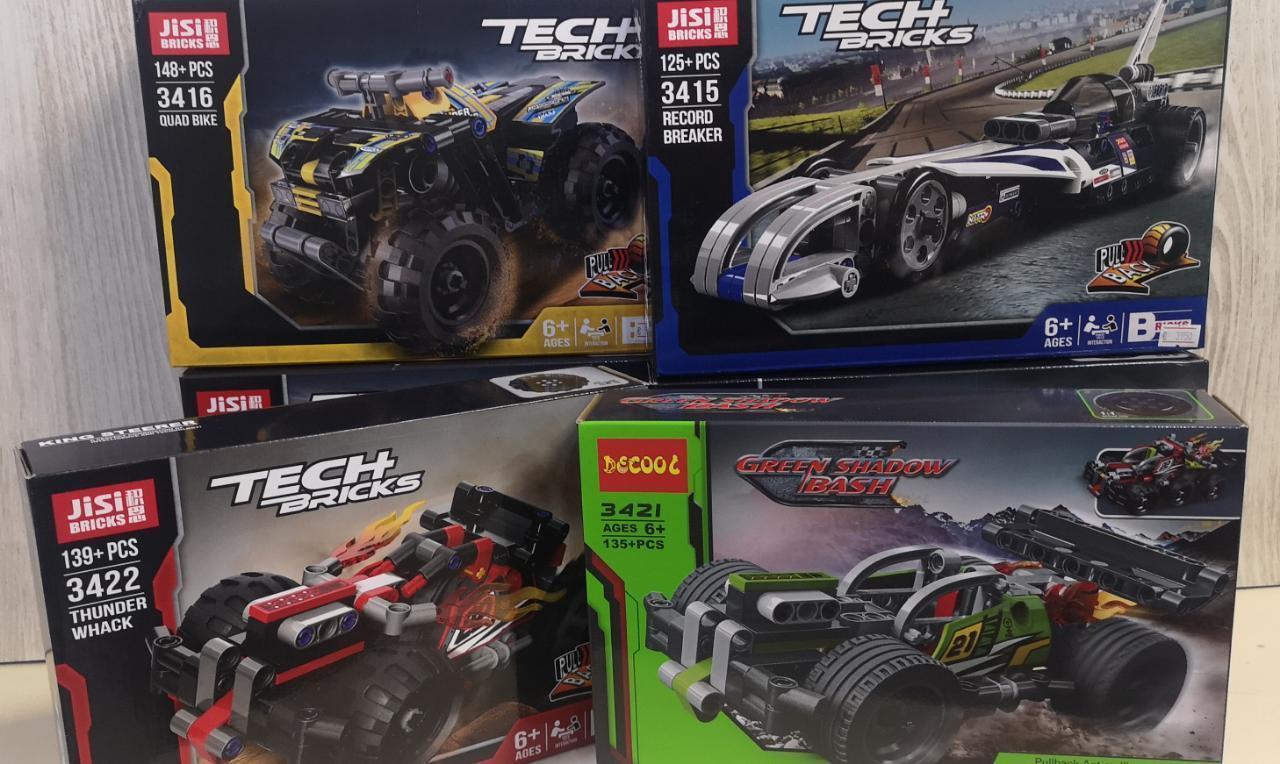 Аналог Лего Техник (LEGO Technic), конструктор машинки, инерция - фото 6