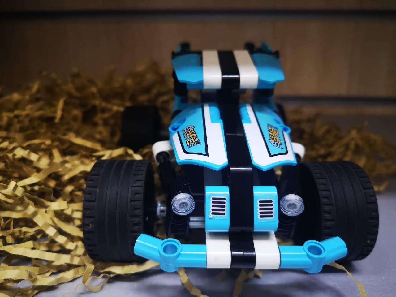 Аналог Лего Техник (LEGO Technic), конструктор машинки, инерция - фото 7