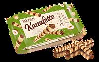 Вафельные трубочки Konafetto с ореховой начинкой 156 гр.