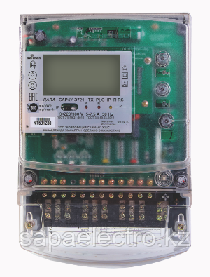 Трехфазный счетчик Дала R TX PLC IP П RS СА4У-Э720 (3x220/380В 5-7,5A) Saiman\Сайман