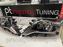 Передние фары на Land Cruiser Prado 150 2014-17 дизайн STYLE