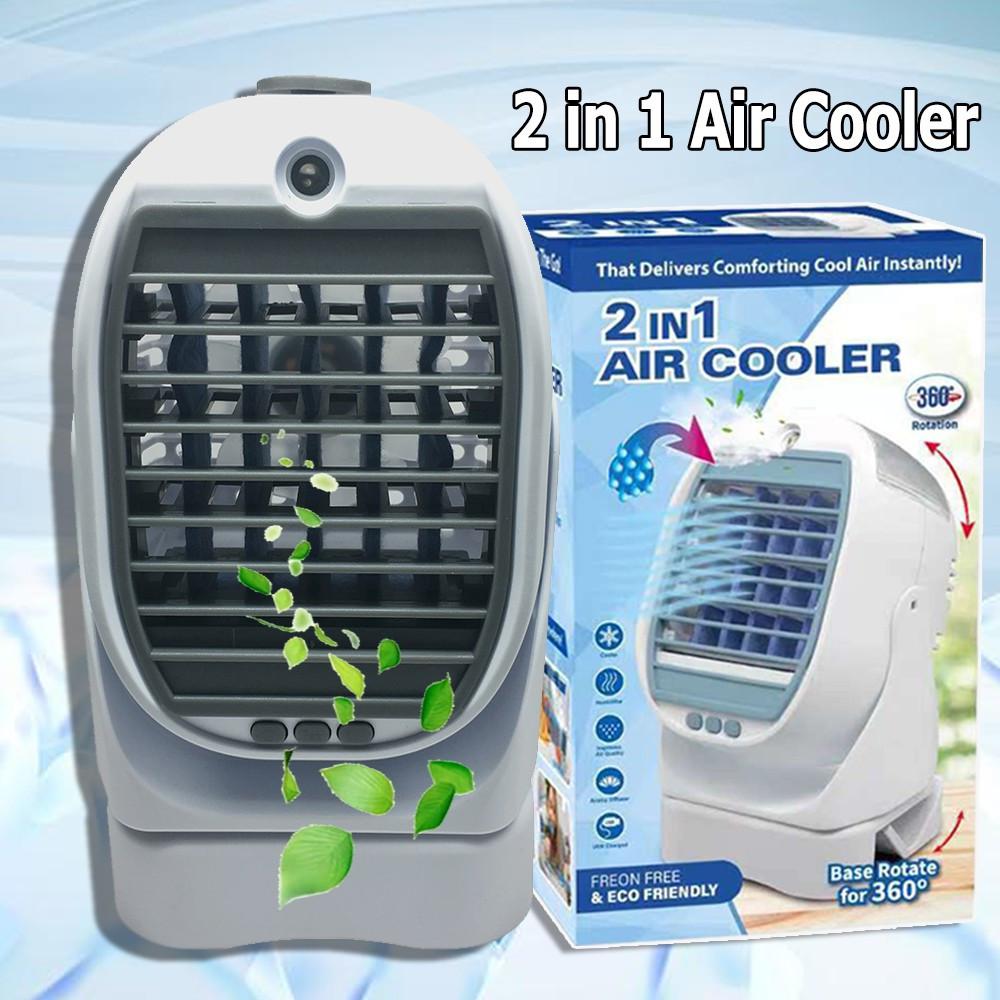 Переносной 2в1. Мини - кондиционер охладитель увлажнитель  воздуха.