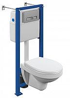 Комплект унитаз подвесной DELFI TPL инсталляция VECTOR кнопка MOVI белый (S-SET-DEL/Vec/TPL/Mo-Cm-w)
